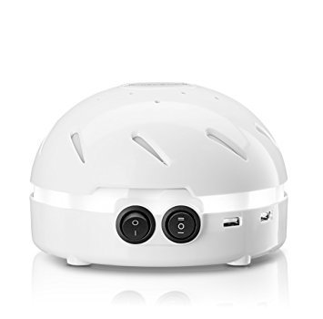 HemingWeigh White Noise Machine - Quality Sounds Masks Disturbing Noise and Reducing Sound for Improved Sleep Relaxation and Enriched Concentration - Built in USB & LED Night Light.