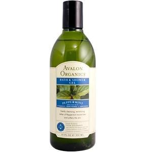 Bain Avalon Organics menthe poivrée et gel douche, 12-Ounce Bottle