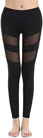 Yoga Pants, FEIVO Women's Power Flex Yoga Pants Tummy Control Workout Yoga Capris Pants Leggings