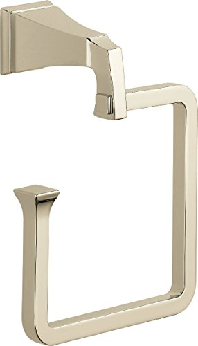 (Delta Faucet 75146-PN Dryden Towel Ring, Polished Nickel)
