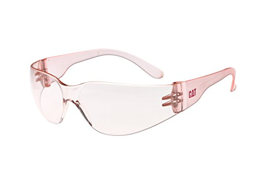Caterpillar Jet 172 Safety Eyewear, Pink Lens, Anti-Scratch Protection, Designed for Small Faces, Ultra Lightweight Design for Added - Eyewear Caterpillar