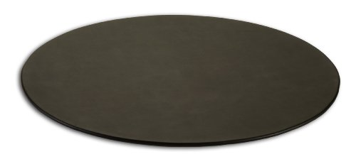 Dacasso Black Leather Oval Conference Table Pad, 17 by 14-Inch