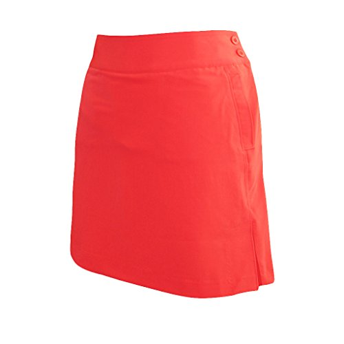 (Monterey Club Ladies Stretchable Peach Twill Solid Skort #2877 (Salmon Pink, Size:12))