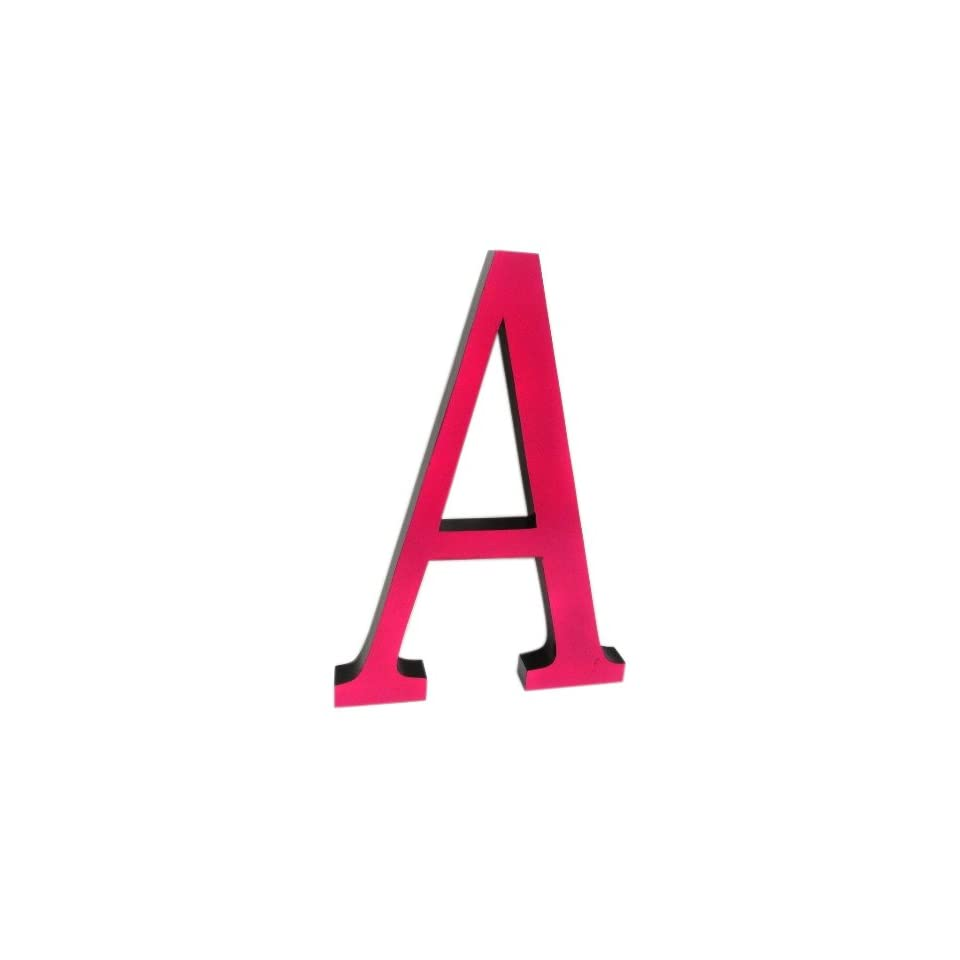 Concepts Frames D2526PBA 16 Inch High A Wall Letters, Pink with Black Sides