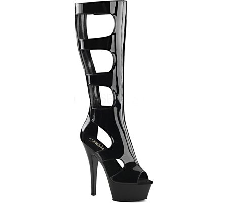 Pleaser KISS-200-45 Blk Pat/Blk Size UK 2 EU 35