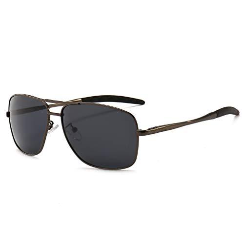 SUNGAIT Men's Polarized Sunglasses Durable Metal Frame for Fishing Driving Golf (Gunmetal Frame/Grey Lens) Metal Frame 0925 QKH