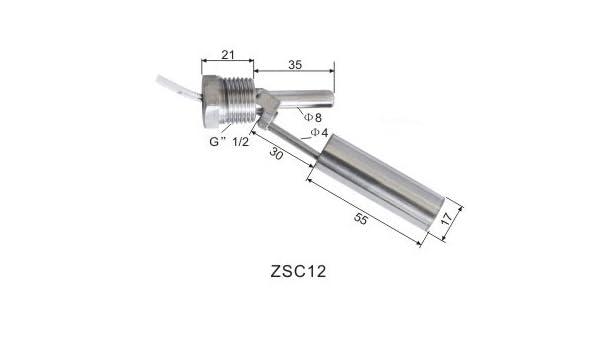 mkele G 1/2 Side Mounted interruptor de flotador Sensor de nivel de líquido de acero inoxidable longitud 120 mm: Amazon.es: Amazon.es