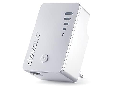 Devolo WiFi Repeater AC - Repetidor (2.4/5, DSSS, OFDM, 300m, IEEE 802.11a, IEEE 802.11ac, IEEE 802.11b, IEEE 802.11g, IEEE 802.11n, IEEE 802.3, IEEE 802.3ab, IEE, WPA, WPA2, WPS-PBC, Color Blanco)
