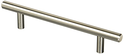 Amerock BP19541CSG9-5PACK Bar 5-1/16 in. (128 mm) Center Pull Value Sterling Nickel-5 Pack ()