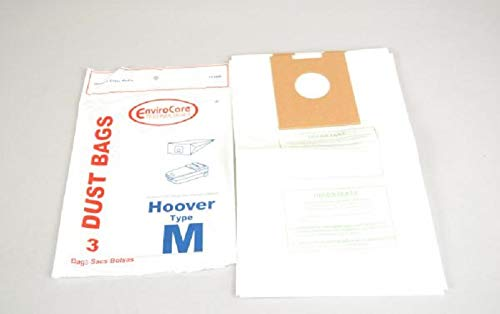Hoover Dimension Canister Vacuum Type M Filter Paper Bags 3 Pk Part # 113SW ()