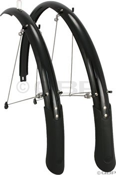 Planet Bike Cascadia bike fenders - 700c x 45mm (black) (Planet Bike Fenders Cascadia)