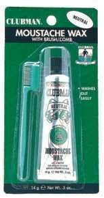 Pinaud Clubman Moustache Wax, Neutral 1/2OZ]()