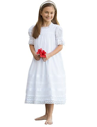 Strasburg Children Lace Flower Girl Dress Heirloom Little Girls Dress White]()