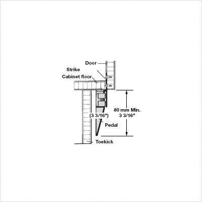 Door Opener for Hinged Base Cabinet Doors by Hafele (Image #1)