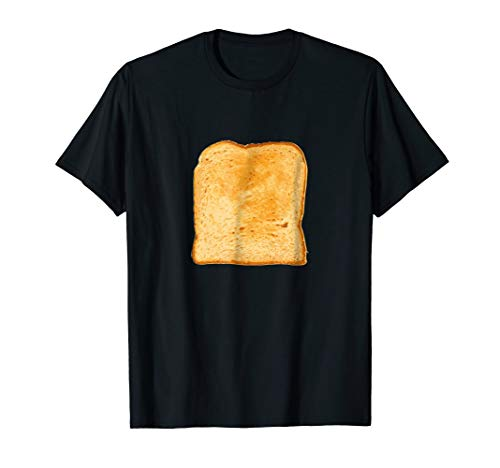 Piece of Buttered Toast Lazy Halloween Costume T-Shirt Bread -