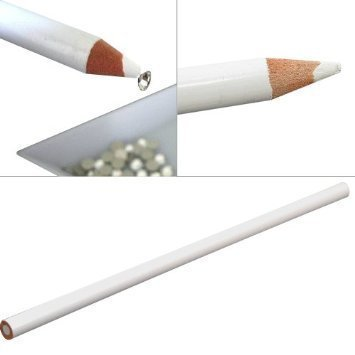 Professional Nail Art White Wax Rhinestones Picker / Placer Pencil / Pen Tool By VAGA