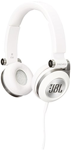 050036321891 - JBL E30 White High-Performance On-Ear Headphones with JBL Pure Bass and DJ-Pivot Ear Cup, White carousel main 0