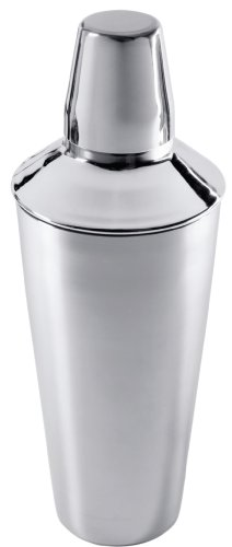 Amco Large Polished Stainless Steel Cocktail Shaker, (Polished Stainless Cocktail Shaker)
