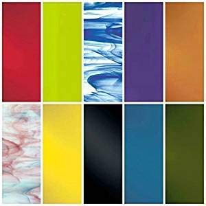 """System 96 Assorted Fusible Glass 10PACK COE 96 4"""" x 4"""""""