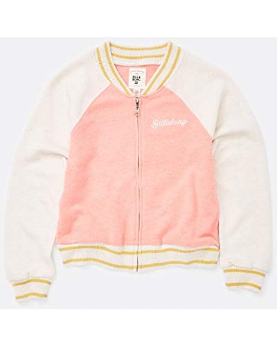 Billabong Girls' Big Tiger Eye Bomber Knit Baseball Jacket, PDP L ()