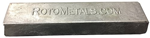 - RotoMetals Zinc Ingot 99.7% min About 3.5 pounds Great for Small Castings/Weight- Made in USA