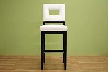 Baxton Studio Isa Cream Leather Barstool