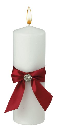 Jamie Lynn Wedding Accessories Red Allure Pillar Unity Candle, White