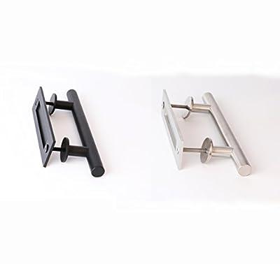 Sliding Barn Door Handle and Flush Pull Set-Brushed Nickel Wood Door Gate Pulls Hardware Stainless Steel 1Pack