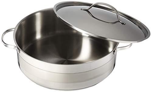 Cuisinox POT-C30-RD Gourmet Covered Rondeau Roasting Pan, 7.0-Liter/8-Quart, Stainless ()