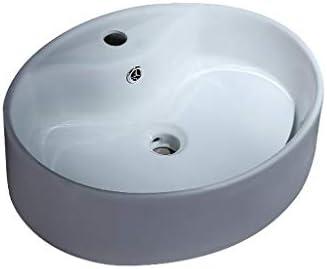 Minmin 洗面化粧台の家の装飾小さなアパートシンプルなセラミックミニサイズの洗面台バルコニー洗濯プールのバスルームの洗面52.5x43x15.5cm 芸術流域 (Color : A)