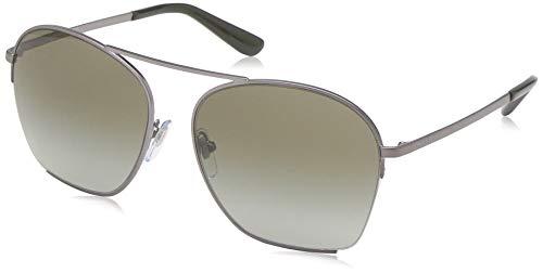 DKNY Women's 0dy5086 Square Sunglasses, Matte Gunmetal, 57.0 mm