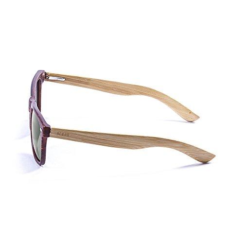 Bambou Fumée Monture Bambou 3 Soleil en Wood de Ocean 50000 Verres Sunglasses Lunettes Beach wPawqz6H