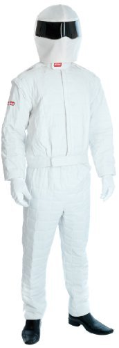 The Stig Costume For Adults (Medium White Adults Racing Driver Costume)