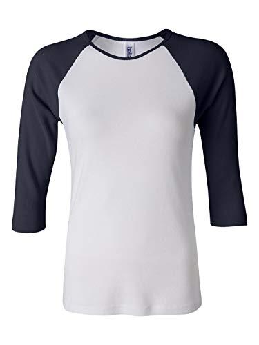T-shirt Raglan Tone (Bella Ladies Two-Tone 3/4-Sleeve Raglan T-Shirt (B2000))