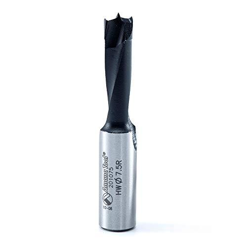201075 Carbide Tipped Brad Pt Amana Tool Boring Bit R//H 7.5mm Dia x 57mm Long x 10mm