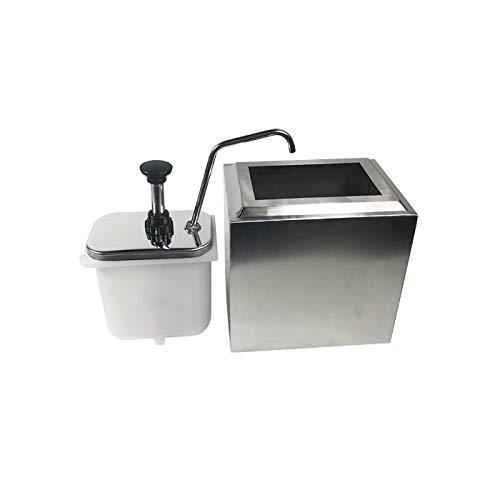 INTBUYING Stainless Steel Condiment Pump Single Head Sauce Dispenser Kitchen Restaurant by INTBUYING (Image #3)