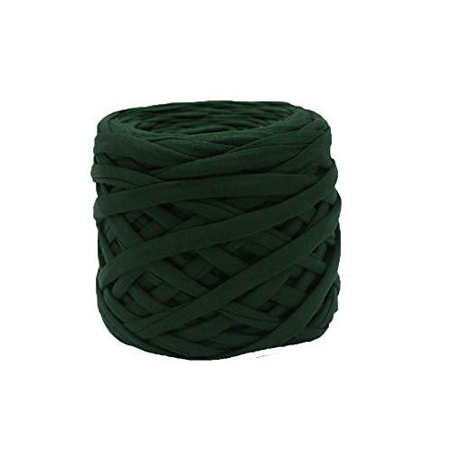 Olive Cotton T Shirt Yarn Summer Handbag T Shirt Yarn Basket Braided DIY Crochet Macaroni Yarn Crochet Purse Necklace 1kg ()