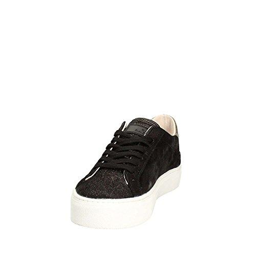 D.a.t.e. Sneakers Vertigo Stardust in Leder Schwarz & Gold Schwarz