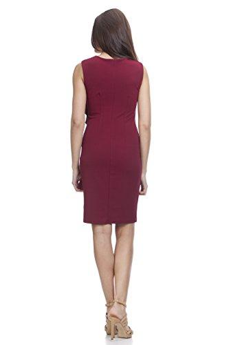 TANTRA, Vestido Casual para Mujer Rojo (Burdeos)