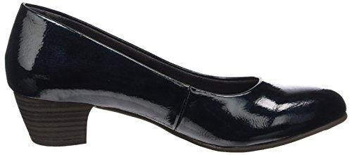 Softline 22360, Escarpins Femme, Noir Bleu (Navy Met. Pat.)