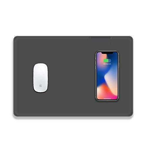 Mouse Pad Wireless Charger Fast Wireless Charging Mouse Pad QI Wireless Pad Station Mat 5W for iPhone X iPhone 8 Standard Charge for Galaxy Note 8 S8 S8 Plus S7 Edge and /& All Qi Enabled Devices