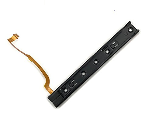Replacement Right Left L R Slider Rail with Flex Cable Fix Part for Nintendo Switch NS NX Joy-Con Console (Left)