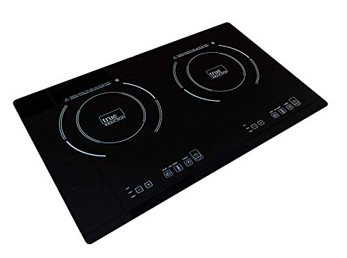 True Induction TI-2B Counter Inset Double Burner Induction Cooktop, 120V, Black (Ceran Top)