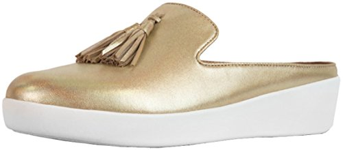 Fitflop Commercio; Muli Da Donna Nappe Superskate ™ - In Pelle Iridescente Color Oro
