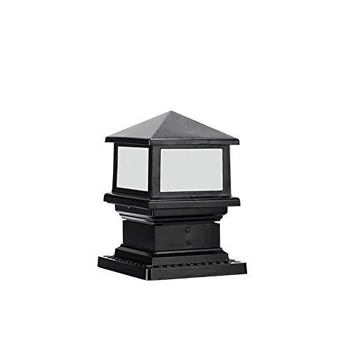- Modenny European Victoria External Outdoor Glass Lantern Aluminum Metal Villa Park Pillar Post Lamp Rainproof Antirust Patio Street Light Lawn Garden Balcony Decoration Lighting E27