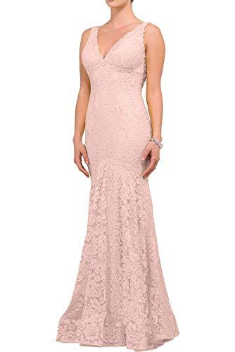 La mia Meerjungfrau V Rosa Festlichkleider Abendkleider Lang Hell Partykleider Kleider Ausschnitt Langes Braut Standsamt Rock aAwdvqra
