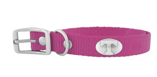ZEP-PRO Pink Nylon Concho Pet Collar, Tennessee Volunteers, Medium