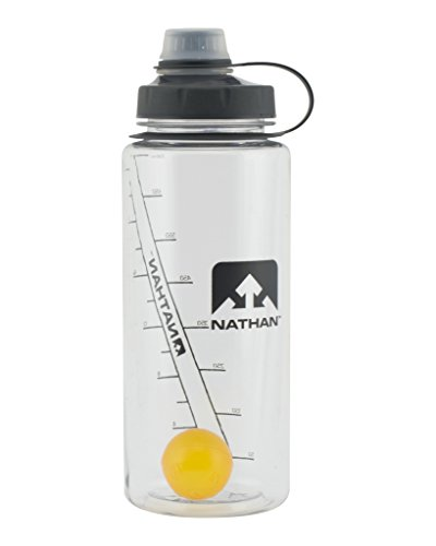 Nathan ShakerShot 750 ml Bottle, Clear Orange