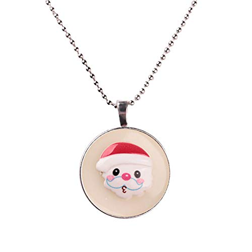 - Topgee Necklace - Fashionable New Glowing Christmas Tree Santa Claus Necklace Snowflake Pendant Necklace Christmas Series Luminous Pendant Necklace