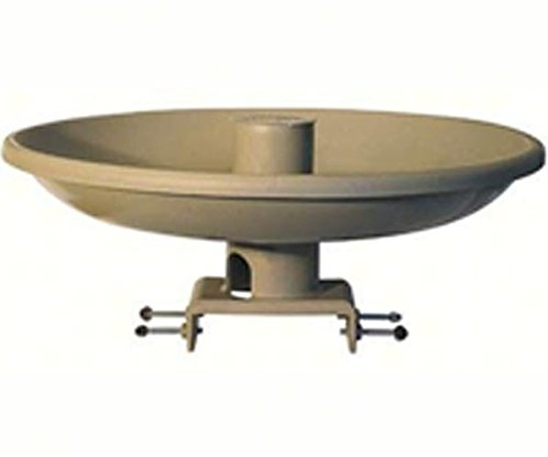 2 PACK OUT FOR THE SEASON. All Seasons Birdbath w/Deck Mount and Feeder (Tan) by Farm Innovators